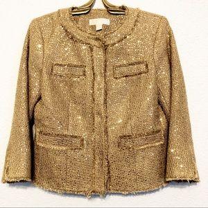 Michael Michael Kors Sequin Boucle Blazer Size 2